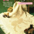 Y018 Crochet PATTERN ONLY Baby Deer Afghan Swedish Weaving Technique