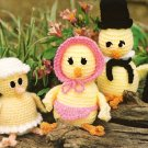X025 Crochet PATTERN ONLY Easter Chick Family & Bunny Toy Doll Pattern