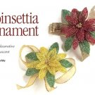 Y063 Bead PATTERN ONLY Beaded Poinsettia Christmas Ornament or Pin