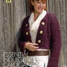X707 Crochet PATTERN ONLY Essential Indulgence Cardigan Sweater Large Sizes
