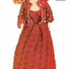X146 Crochet PATTERN ONLY Beaded Fashion Doll Barbie Evening Dress & Jacket