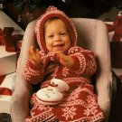 X001 Crochet PATTERN ONLY Snowflake Baby Bunting Pattern