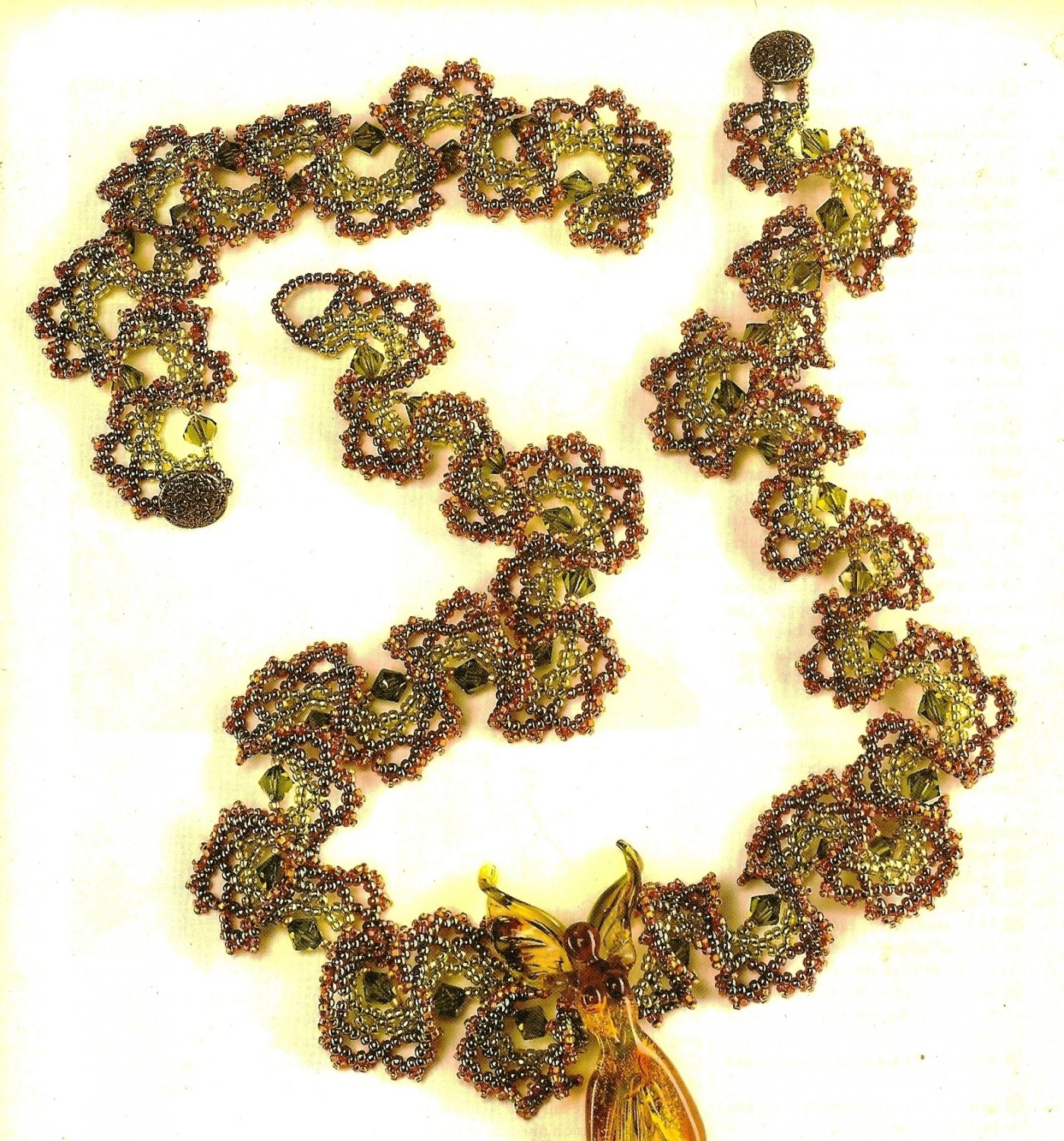X701 Bead PATTERN ONLY Beaded Ogalala Lace Necklace Ruffles