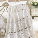 Y020 Crochet PATTERN ONLY Circle of Love Throw Lacy Bride Afghan