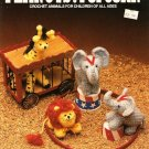Y579 Crochet PATTERN Book ONLY Peanuts & Popcorn Animals Elephant Tiger Giraffe