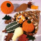X131 Crochet PATTERN ONLY Autumn Cornucopia with Fruit Vegetables Thanksgiving