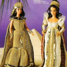 X678 Crochet PATTERN ONLY Cleopatra & Coronation Fashion Doll Dress Barbie