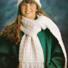 X417 Crochet PATTERN ONLY Dazzling Stocking Hat & Scarf Duo Pattern
