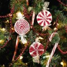 Y317 Crochet PATTERN ONLY 3 Peppermint Candy Christmas Ornament Patterns