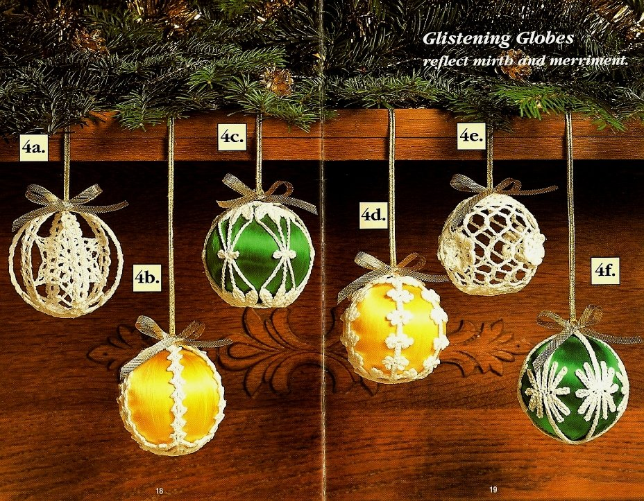 X107 Crochet PATTERN Book ONLY Enchanted Christmas Ornaments Covers Snowflakes