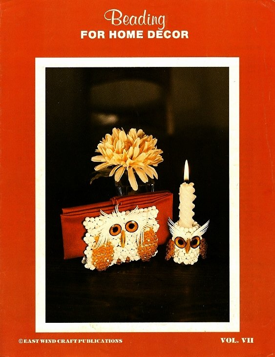 Y542 Bead PATTERN ONLY Beading for Home Decor Vol. VII Owl Candle Napkin Holder