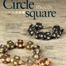 Y598 Bead PATTERN ONLY Circle Meets Square Beaded Cubes Bracelet & Earring