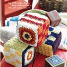 X766 Crochet PATTERN ONLY Plush Baby Blocks & Colorful Cap Toy