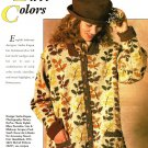 X215 Knit PATTERN ONLY Fall Colored Leaves Cardigan Sweater Pattern