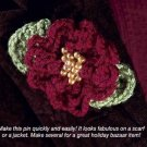 Y829 Crochet PATTERN ONLY Floral Pin Pattern Flower - Customize with Color