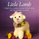 Y973 Crochet PATTERN ONLY Little Lamb with Floral Wreath Doll or Toy Pattern