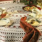Y088 Crochet PATTERN ONLY Star Flower Tablecloth Table Cover