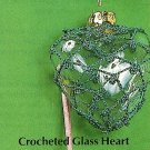 Y889 Crochet PATTERN ONLY Glass Heart Christmas Ornament Cover Pattern
