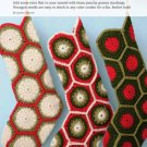 Y295 Crochet PATTERN ONLY Stuffable Christmas Stockings Pattern Granny Patch