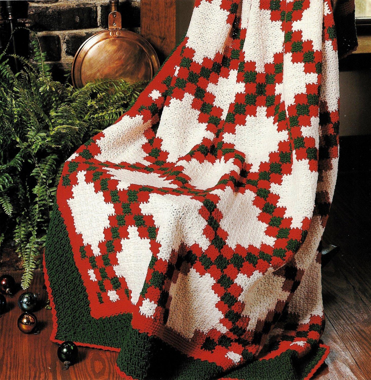 X527 Crochet PATTERN ONLY Double Irish Chain Afghan Pattern
