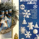 X104 Crochet PATTERN ONLY Snowballs, Snowflakes and Bells Ornament Pattern