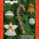 Y680 Crochet PATTERN ONLY Christmas Sparklers Ornaments Bell Angel Balls