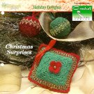 X714 Crochet PATTERN ONLY Christmas Sachet & Ornament Cover