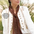X282 Crochet PATTERN ONLY Lacy Bamboo Neck Piece Scarf Pattern