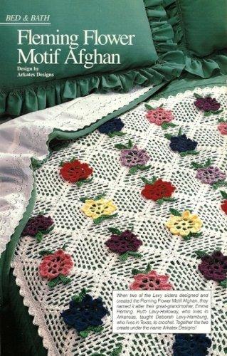 X942 Crochet PATTERN ONLY Fleming Flower Motif Afghan Throw