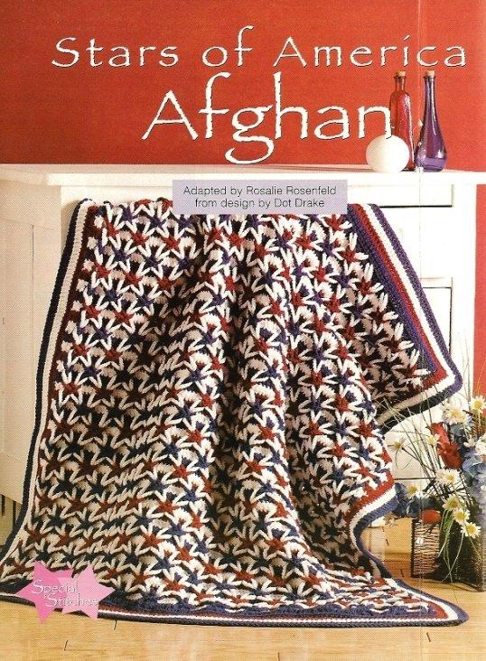 Y620 Crochet PATTERN ONLY Stars of America Afghan Pattern