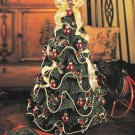 Y275 Crochet PATTERN ONLY Ruffled Mini Christmas Tree Decoration Pattern