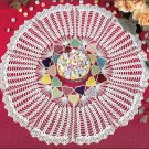 Y082 Crochet PATTERN ONLY Valentine Candy Hearts Doily