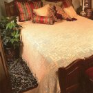 X378 Filet Crochet PATTERN ONLY Rose Motif Bedspread & Lampshade Pattern Set