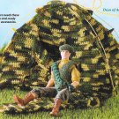 W272 Crochet PATTERN ONLY Fashion Doll Camouflage Gear Pattern Tent Vest Beret