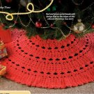 W307 Crochet PATTERN ONLY 7 Hour Christmas Tree Skirt Pattern