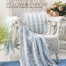 W005 Crochet PATTERN ONLY Flowers & Lace Pillow & Throw Patterns + Bonus!