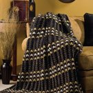 Y165 Crochet PATTERN ONLY Gold Nugget Tweed Afghan Throw