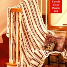 Y642 Crochet PATTERN ONLY Candy Cane Panels Afghan Pattern