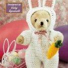 Y374 Crochet PATTERN ONLY Bear Easter Bunny Costume Pattern