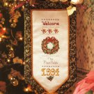 X844 Cross Stitch PATTERN ONLY Welcome Bell Pull Chart