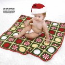 Y899 Crochet PATTERN ONLY Christmas Candy Baby Afghan Pattern