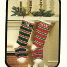 Y615 Knit PATTERN ONLY Knit Personalize Christmas Stockings Pattern