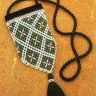 X523 Bead PATTERN ONLY Beaded Purse Evening Bag Pattern Norwegian Style Netting