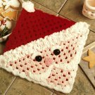 X304 Crochet PATTERN ONLY Santa Face Hot Mat Pattern