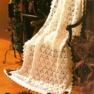 X637 Crochet PATTERN ONLY Holly Berry Afghan & a Cross Stitch Snowman