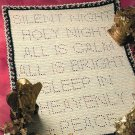 X391 Crochet PATTERN ONLY Silent Night Afghan and Bonus Christmas Pattern
