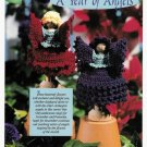 Y038 Crochet PATTERN ONLY Clothespin Angels Poinsettia & Chrysanthemum Doll