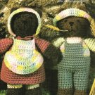 Y036 Crochet PATTERN ONLY Jeremiah & Sarah Brown Bear Toy Doll