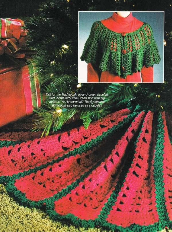 X631 Crochet PATTERN ONLY 2 Tree Skirts & Christmas Granny Afghan Patterns