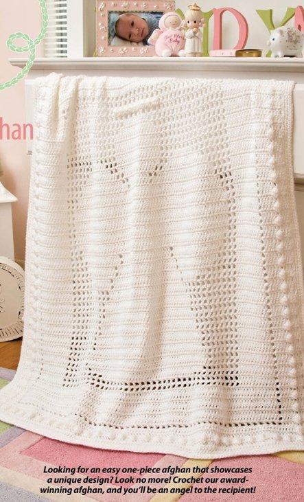 Y551 Crochet PATTERN ONLY Angel Baby Afghan Blanket Pattern